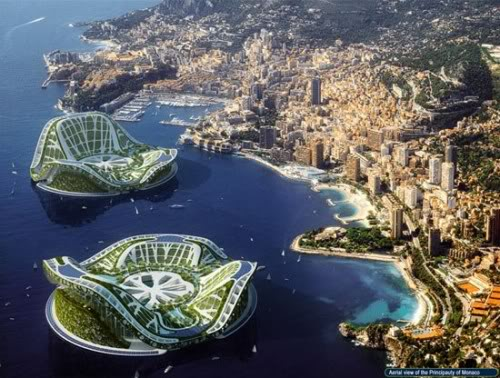 Future map of the world underwater Solution Floating Cities  Cierra